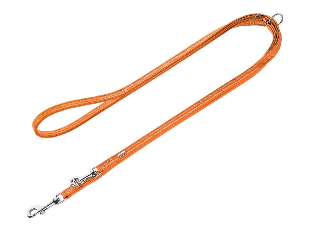 ハンター カーフレザー カンヌ ミニ リード(3way)orangeの画像