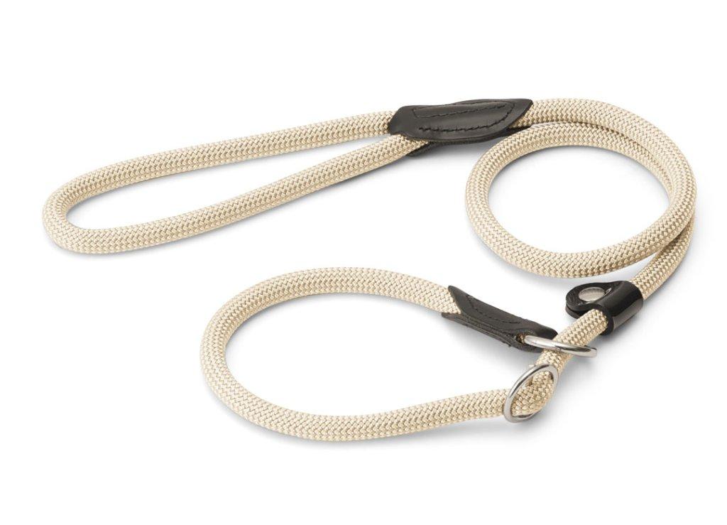ハンター ナイロンロープ フリースタイル レトリーバー(首輪一体型)リード beigeの画像