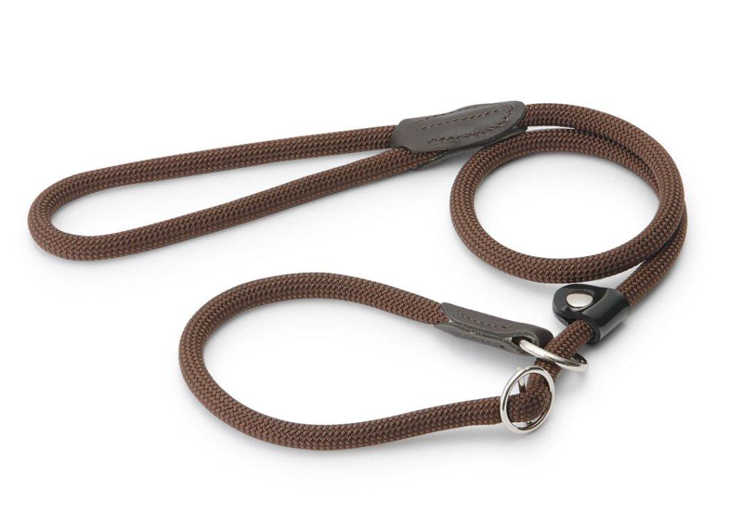 ハンター ナイロンロープ フリースタイル レトリーバー(首輪一体型)リード brownの画像
