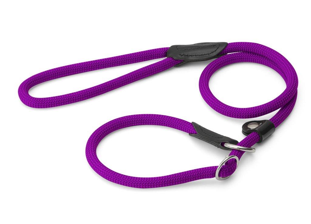 ハンター ナイロンロープ フリースタイル レトリーバー(首輪一体型)リード violetの画像