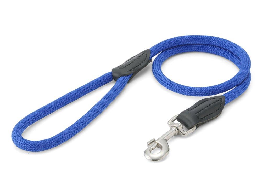 【廃番により在庫限り】 ハンター ナイロンロープ フリースタイル リード blue 小・中型犬用の画像