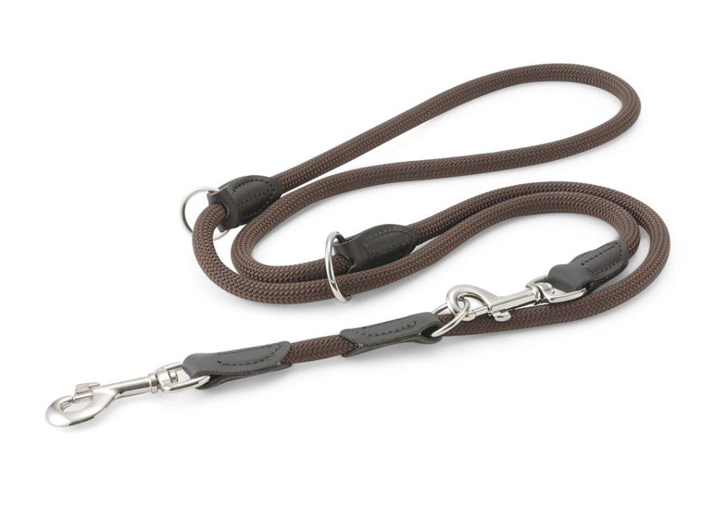 ハンター ナイロンロープ フリースタイル トレーニング(3way)リード brownの画像