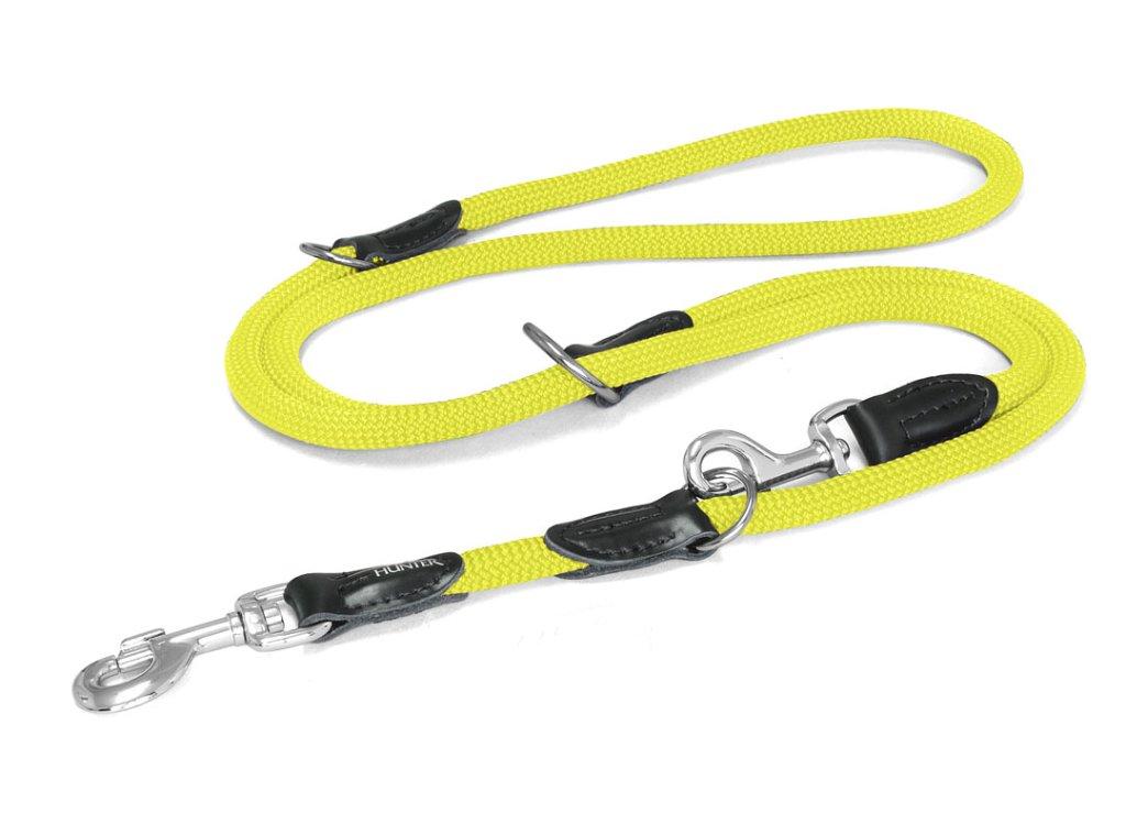ハンター ナイロンロープ フリースタイル トレーニング(3way)リード neon yellowの画像