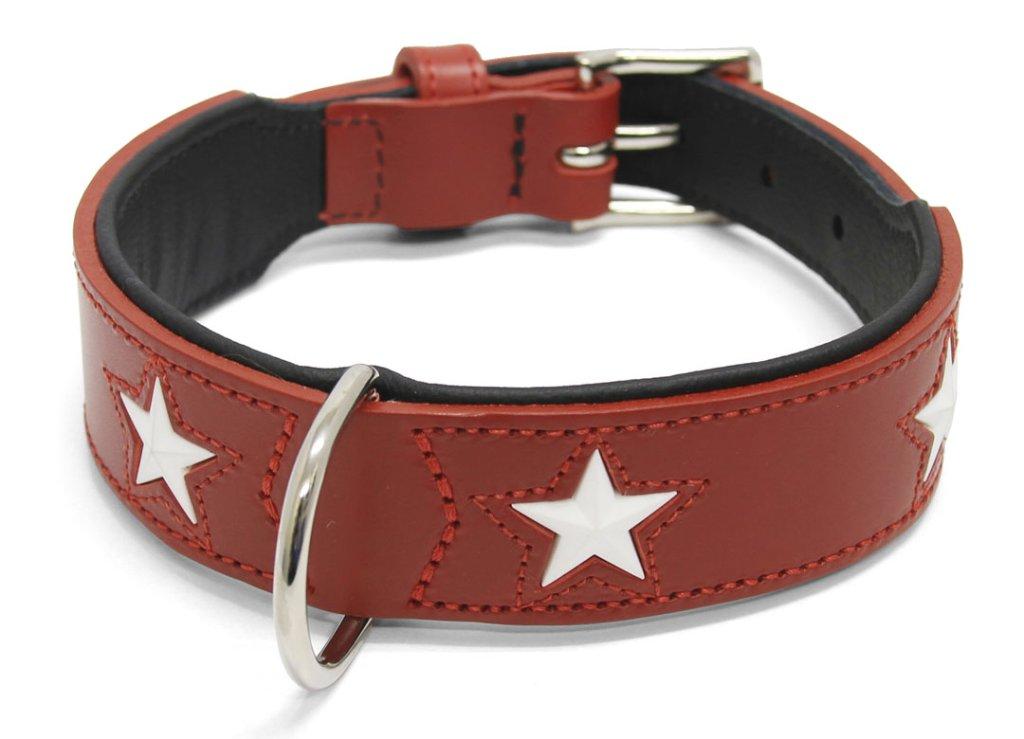 ハンター オーガニックレザー(牛革) マジックスターカラー red/blackの画像