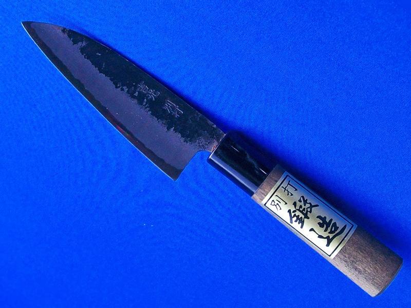 小出刃包丁・安来白紙1号・125ミリ/柄は朴(防腐処理)|人気の小出刃包丁|長崎県 刃物通販・吉光の画像