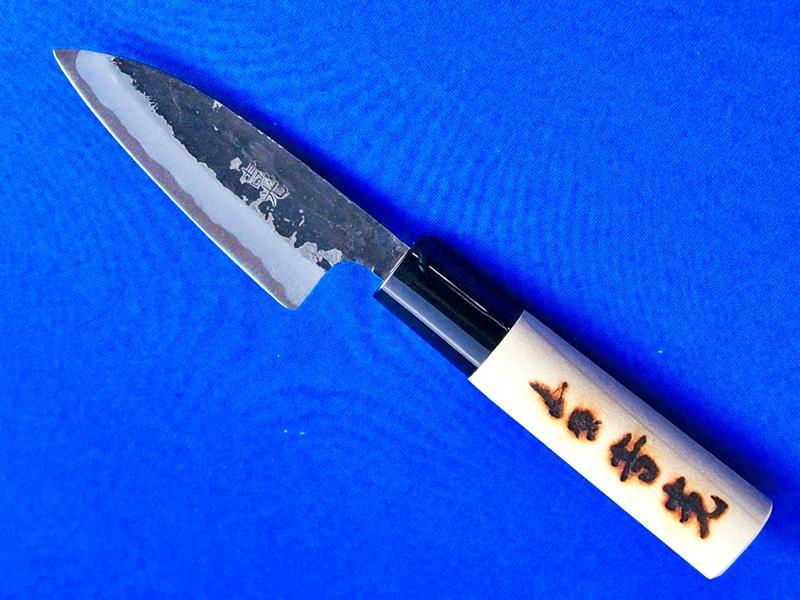 豆出刃包丁・安来白紙2号・90ミリ|小魚の調理に最適|長崎県 刃物通販・吉光画像