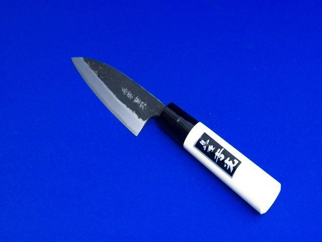 豆出刃庖丁・安来鋼青紙2号・90㎜|鰻や穴子割りにおススメ|長崎県 刃物通販・吉光画像