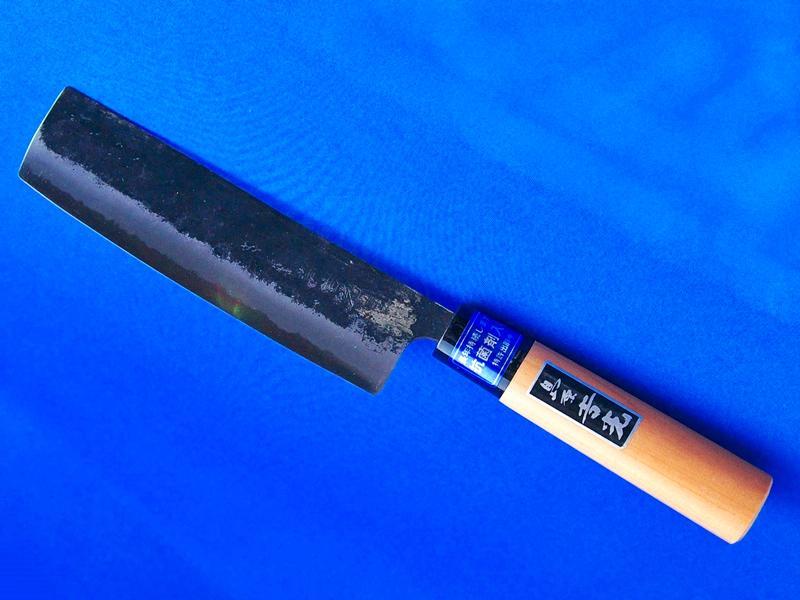 菜切包丁155mm 青紙2号 柄:桜 |ワンランク上の鋼を使用した薄刃包丁|長崎手打刃物 ネットショップ・吉光の画像