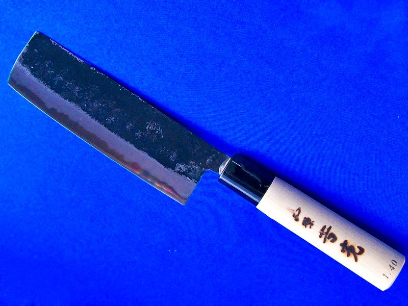 中菜切包丁・140ミリ・安来白紙2号 |豪快な切れ味で、野菜向けの薄刃包丁|長崎県 吉光刃物画像