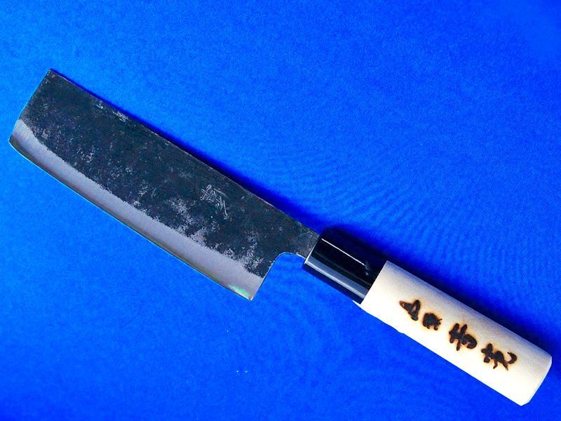 小菜切包丁・125ミリ・安来白紙2号 |小型で軽く、切れ味抜群 |長崎県 吉光刃物の画像