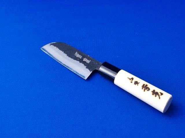 小型皮むき庖丁 安来鋼白2号 90ミリ |小型で軽く、切れ味抜群|長崎県 吉光刃物の画像