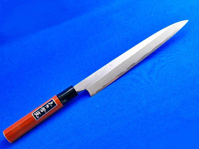 柳刃包丁・片刃・安来青紙2号・210ミリ |最高級のハガネを使用、切れ味も抜群|長崎手打刃物 島原・吉光の画像