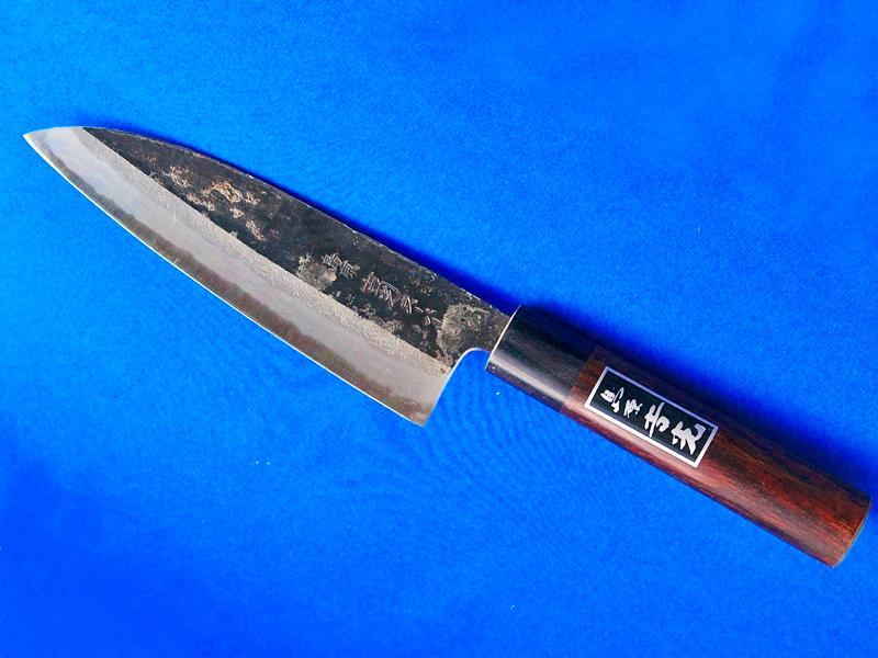 三徳(文化)包丁・スーパー青鋼 160mm 紫檀柄 |肉、野菜、魚、これ一本でOK(島原市ふるさと納税お礼品)の画像