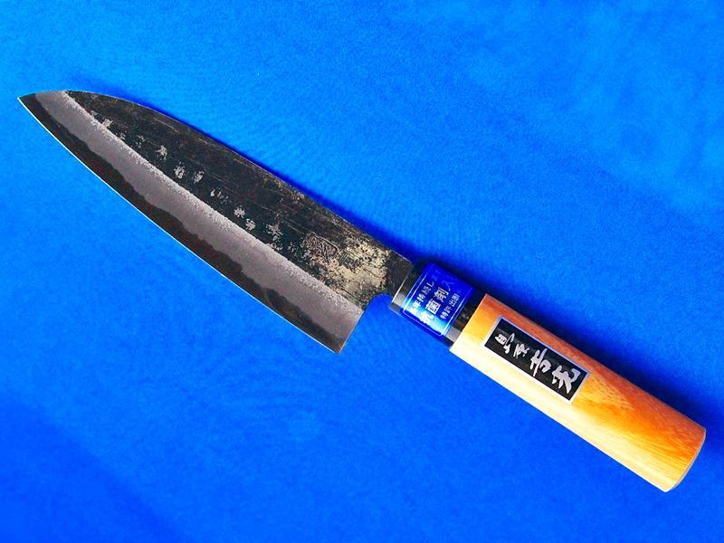 三徳(文化)包丁・スーパー青鋼・165mm・桜柄  万能庖丁で、肉、野菜、魚、これ一丁 長崎手打刃物 吉光画像