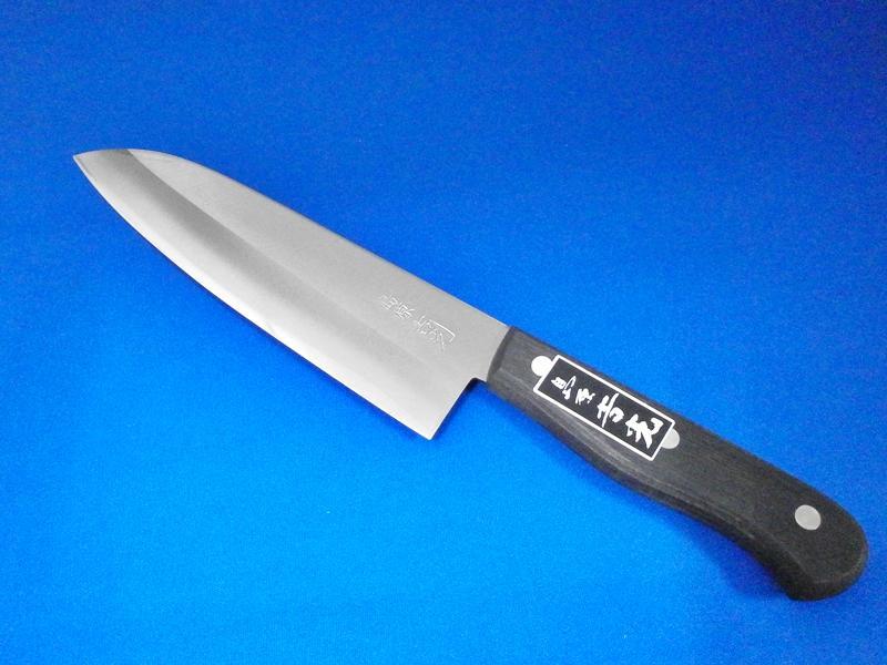 ステンレス三徳庖丁・青鋼2号・180㎜ |肉、野菜、魚など幅広い用途に対応|刃物通販 ネットショップ「吉光」 の画像