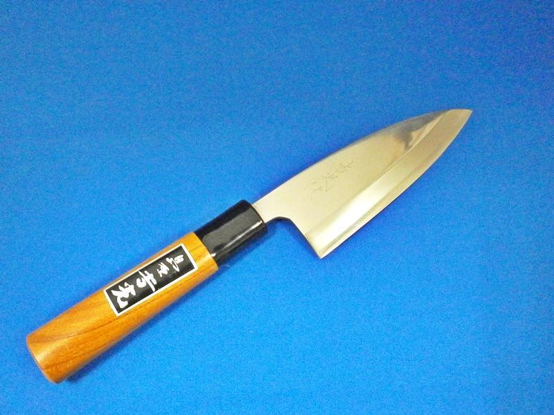 ステンレス・小出刃庖丁・120ミリ・片刃・粉末ハイス鋼|「錆び難く、切れ味が長持ち、お手入れ簡単|鍛冶屋・吉光の画像