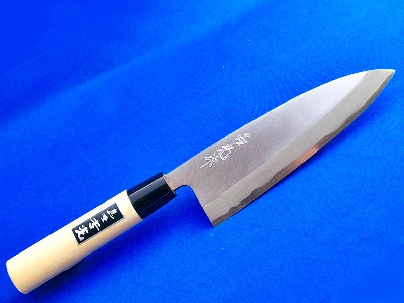 出刃包丁(片刃)青紙2号160mm/ホウ柄 |魚の調理に最適|長崎手打刃物 鍛冶屋・吉光画像