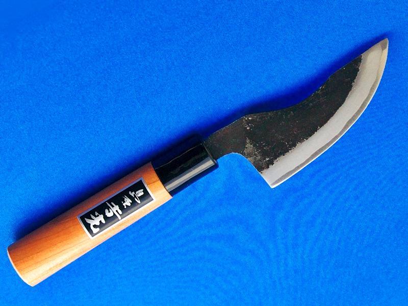 皮剥包丁・90mm|手作り包丁・鹿や猪などの皮ハギにオススメ|長崎手打刃物 鍛冶屋「吉光」画像