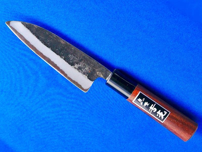 小出刃包丁・スーパー青鋼・125ミリ|小型で人気の逸品|長崎手打刃物 鍛冶屋・吉光の画像