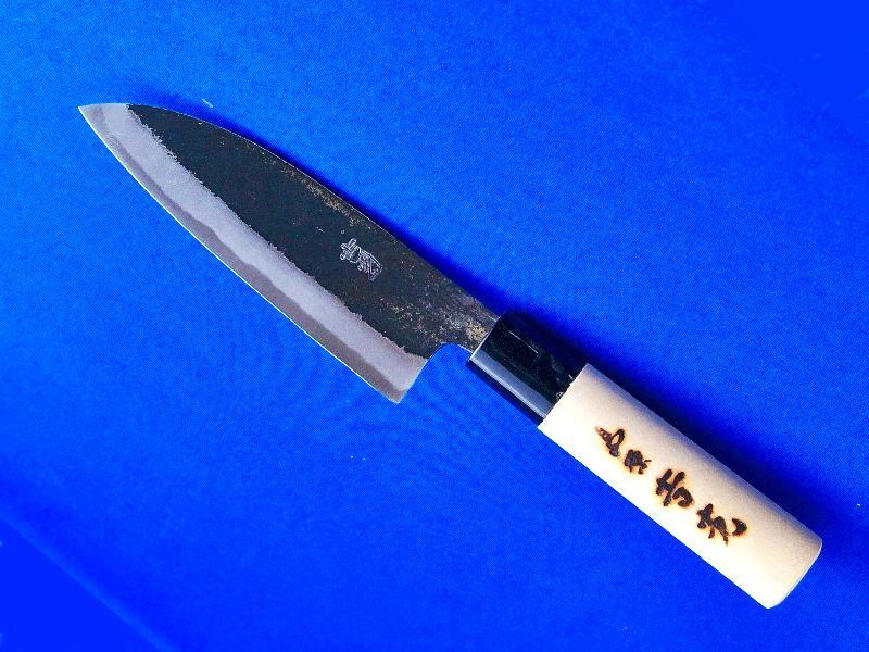 小出刃包丁 安来白紙2号 125ミリ 多用途 長崎手打刃物 鍛冶屋・吉光 画像