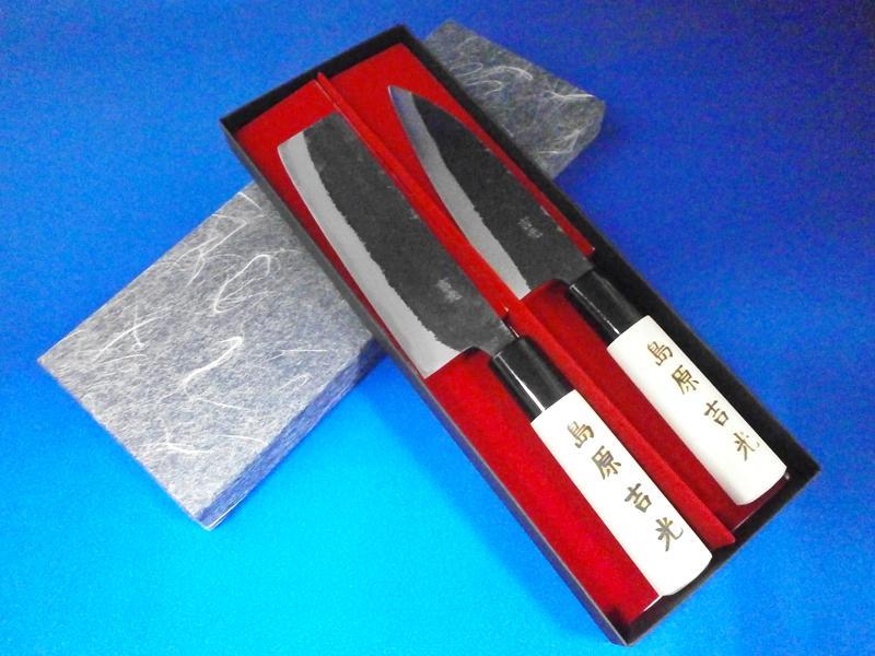 小出刃・小菜切包丁セット(万能小包丁125mmセット)|ギフトセット・贈答好適品|鍛冶屋・吉光の画像